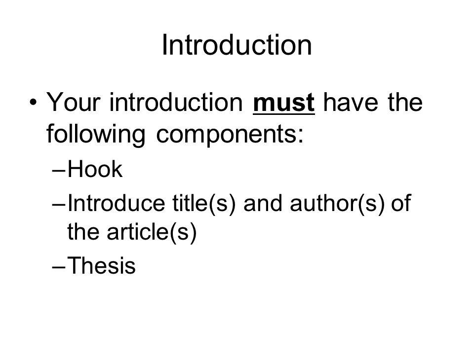 Essay Hooks About Food