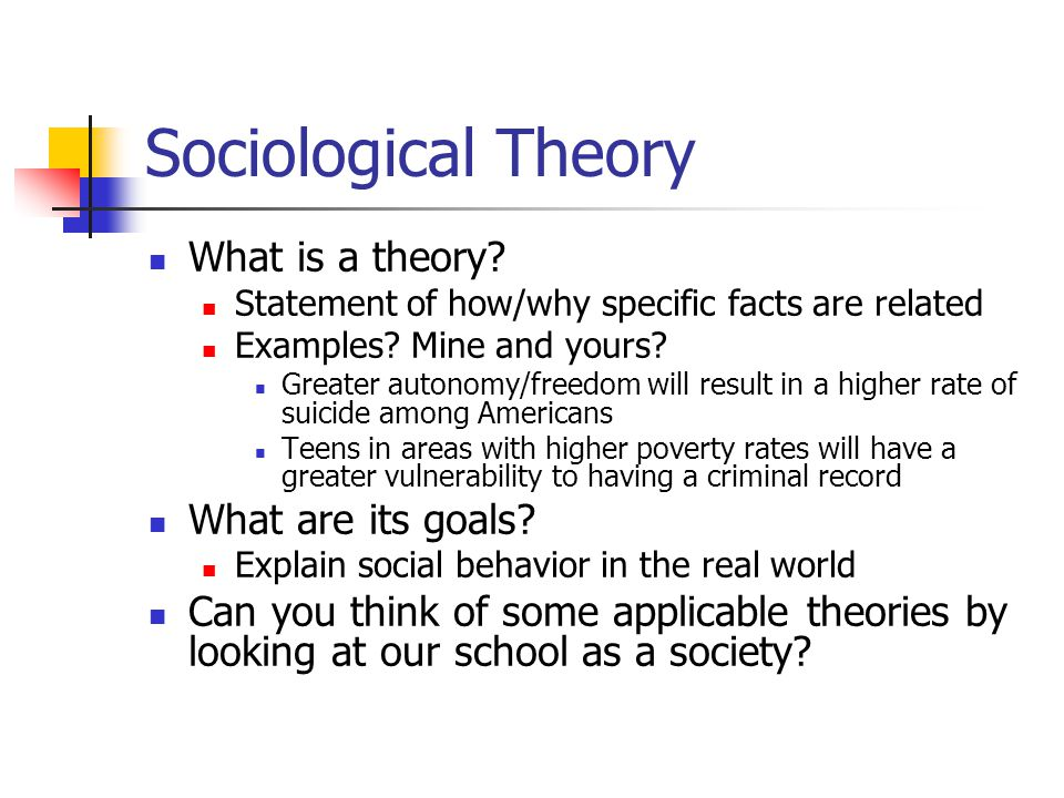 sociology theories Sociology is the systematic study of human society and social interaction it is a systematic study because sociologists apply both theoretical perspectives and research methods (or orderly approaches) to examinations of social behavior  (kendall 2006:2.