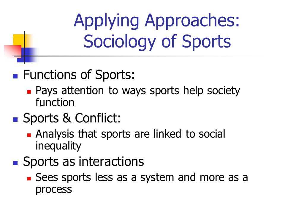 sports function in society