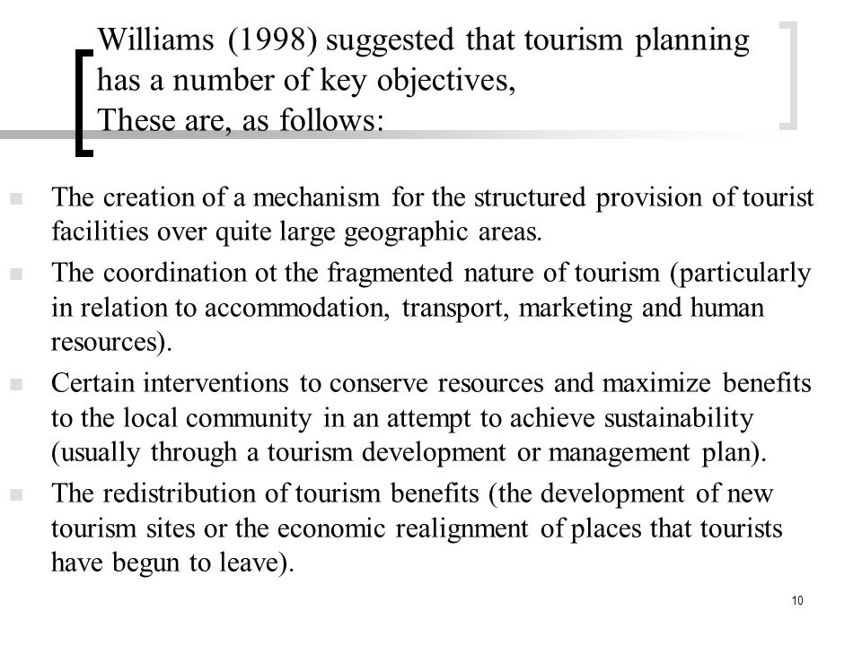 Course Name: TOURISM POLICY AND PLANNING (THM 420) - ppt
