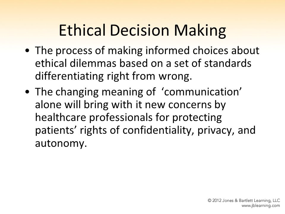 Ethical Applications in Informatics - ppt video online download