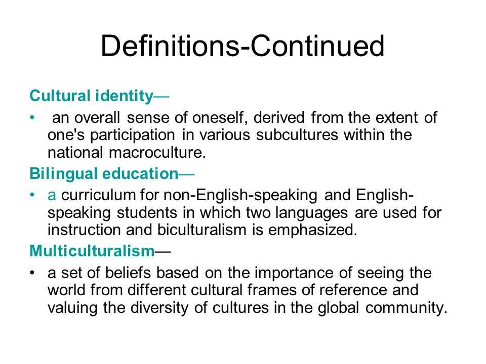 Definitions-Continued