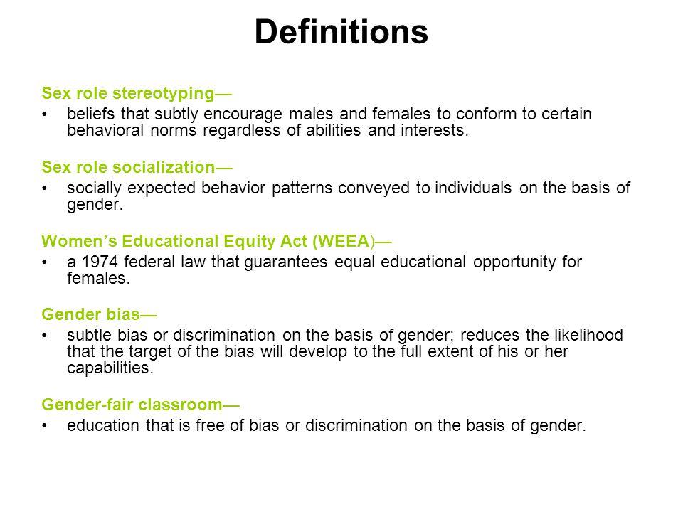 definition of gender bias in education