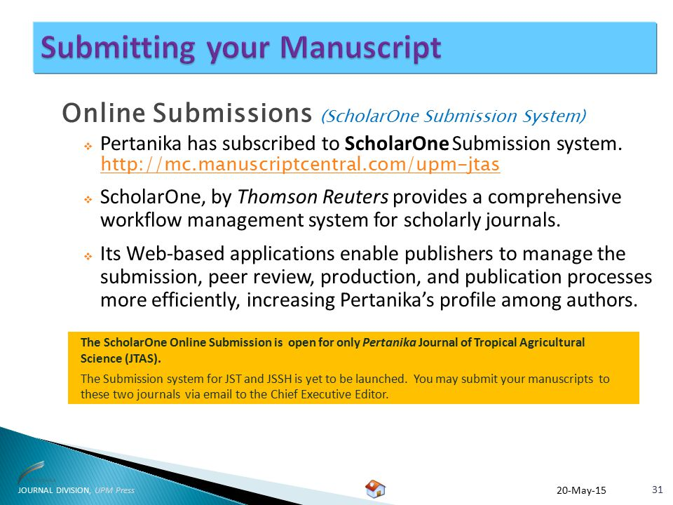 Journal Division, UPM Press - ppt download