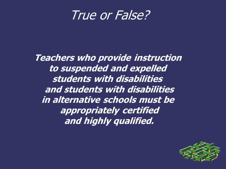 Students With Disabilities Suspended >> Check Your Knowledge Idea Discipline For Students With