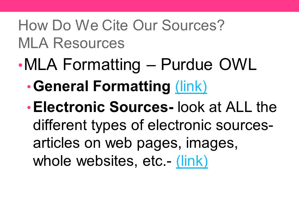 mla format website citation