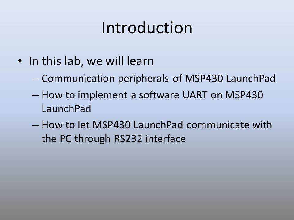 LAB 6: Serial Communication - ppt video online download