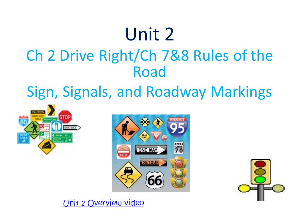 Unit 2 Ch 2 Drive Right/Ch 7&8 Rules of the Road