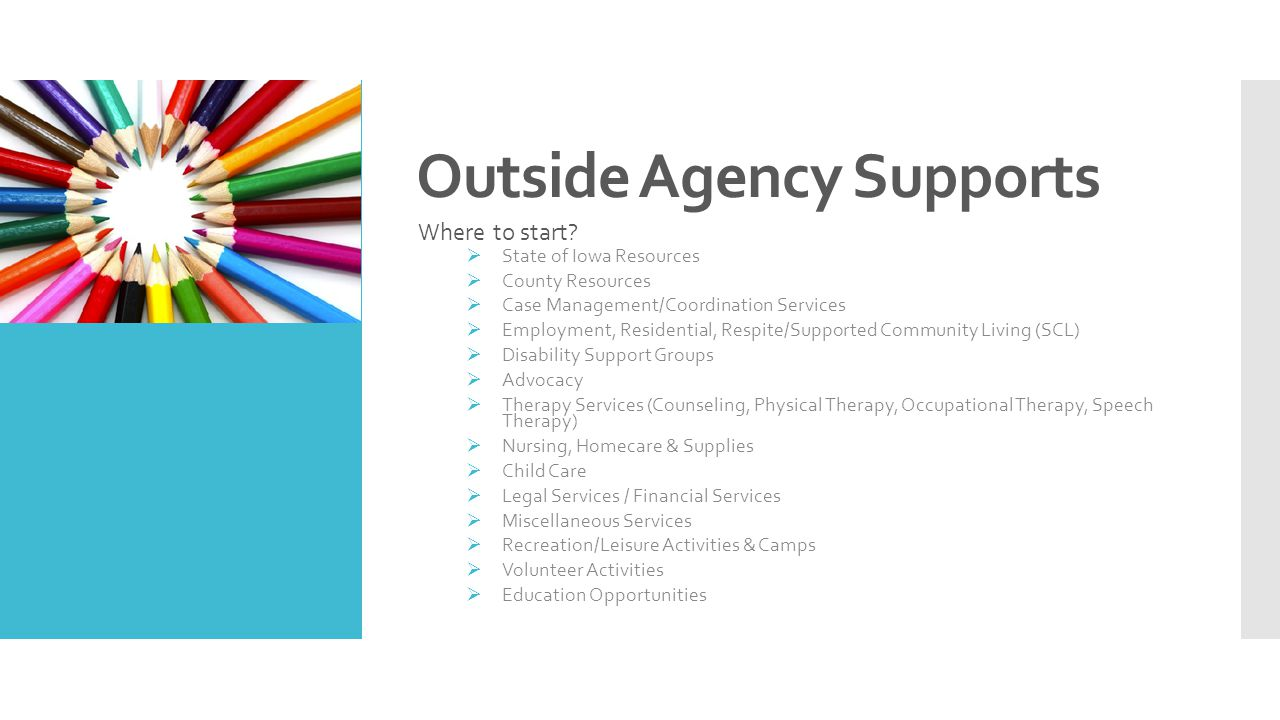 Outside Agency Supports