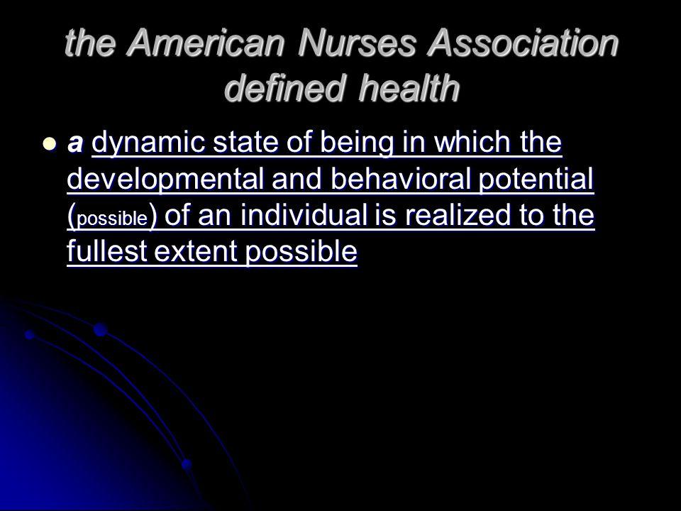 define american nurses association