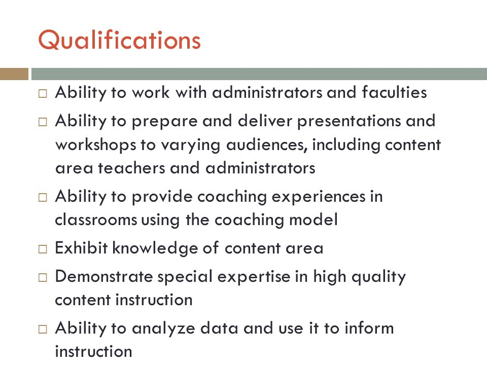Roles And Responsibilities Of The Instructional Coach Ppt Video