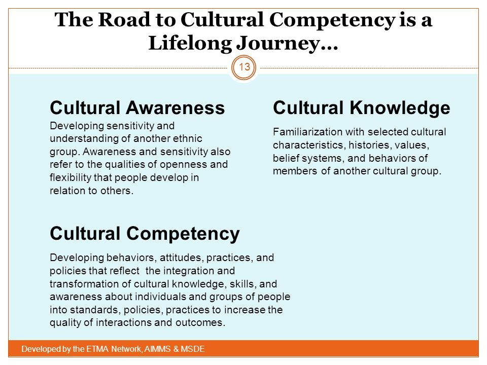 The Road to Cultural Competency is a Lifelong Journey…