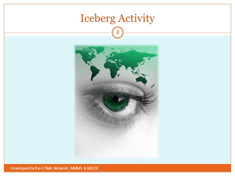 Iceberg Activity Developed by the ETMA Network, AIMMS & MSDE
