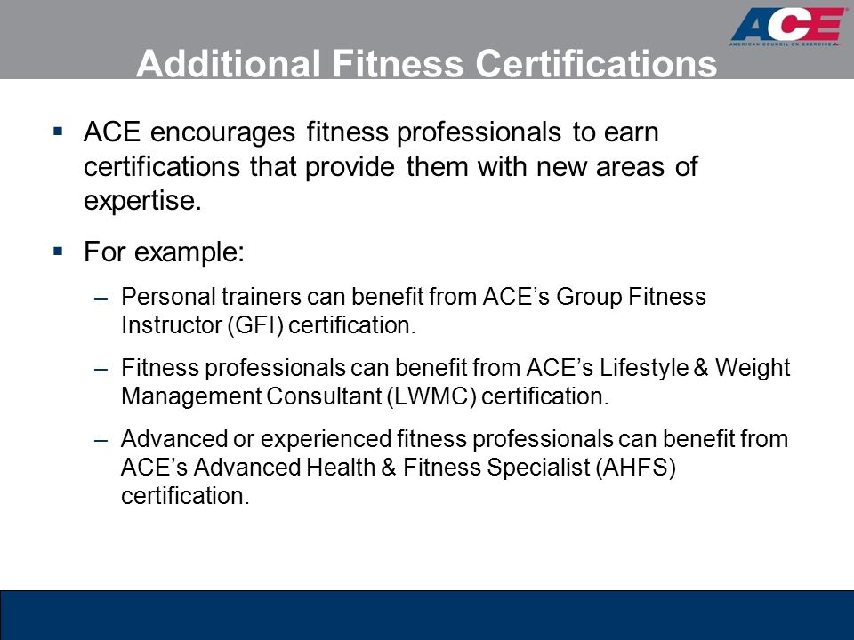 ACE Personal Trainer Manual, 4th edition Chapter 1: - ppt video ...