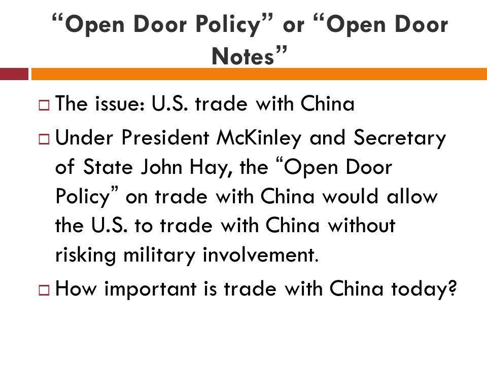 Definition Of Open Door
