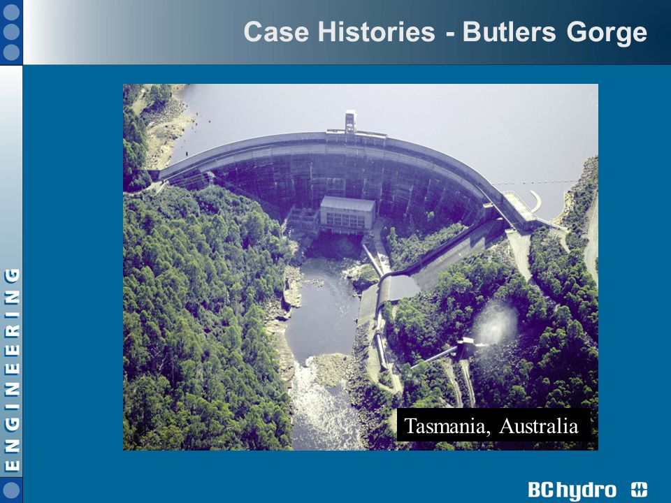 Case Histories - Butlers Gorge