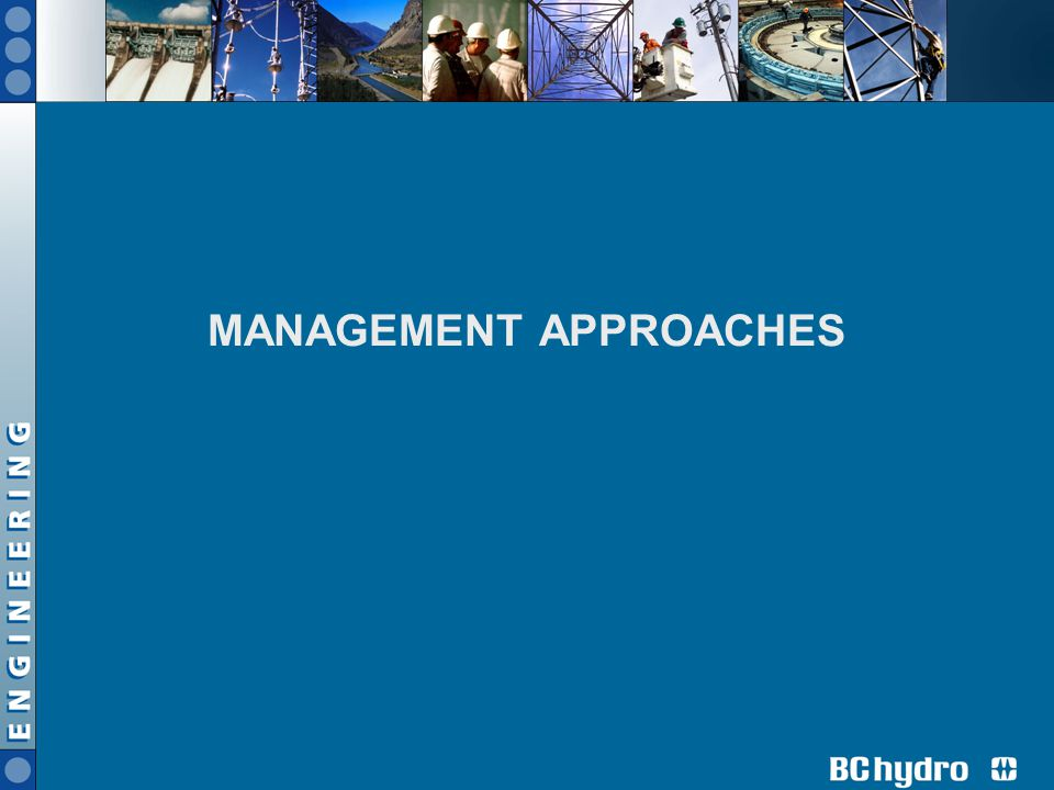 MANAGEMENT APPROACHES