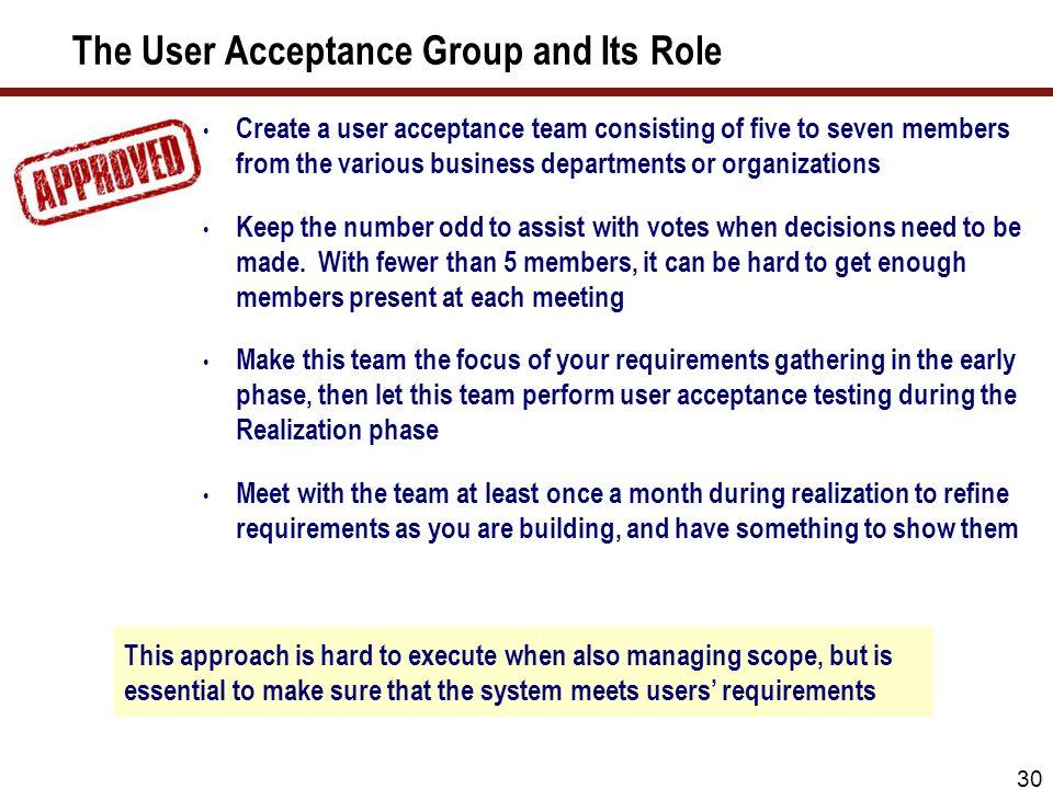 Scope Of User Acceptance Testing - Sample User Manual •