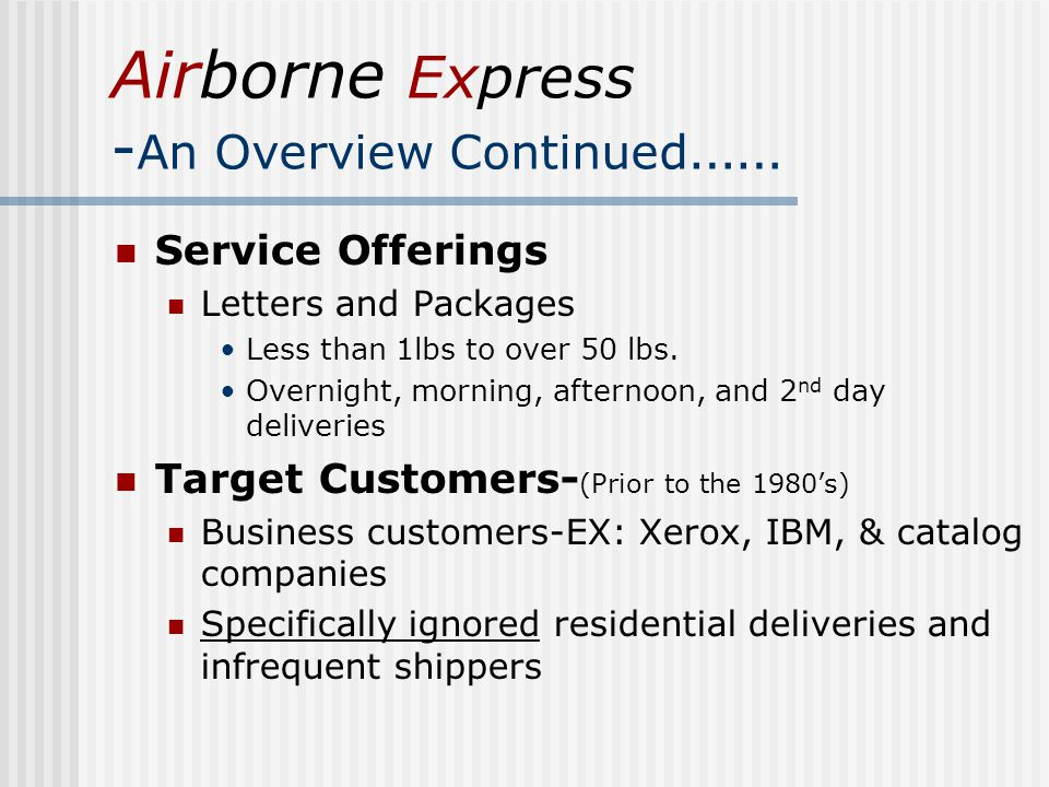 airborne express game theory