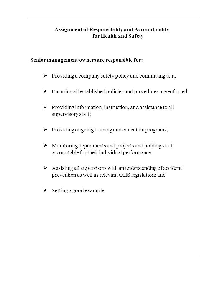 CORPORATE HEALTH AND SAFETY POLICY - ppt download
