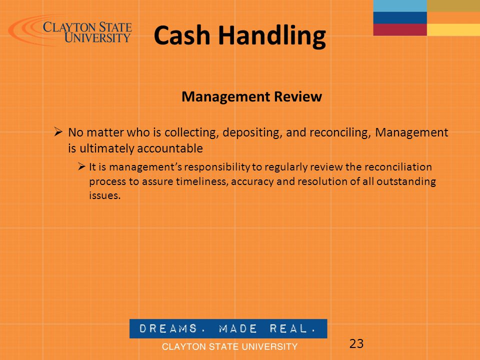 Cash Handling Management Review