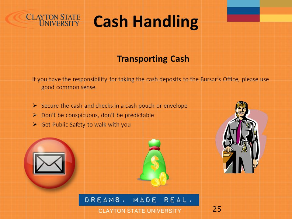 Cash Handling Transporting Cash