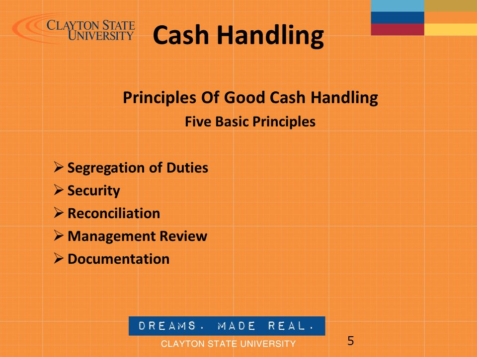 Principles Of Good Cash Handling