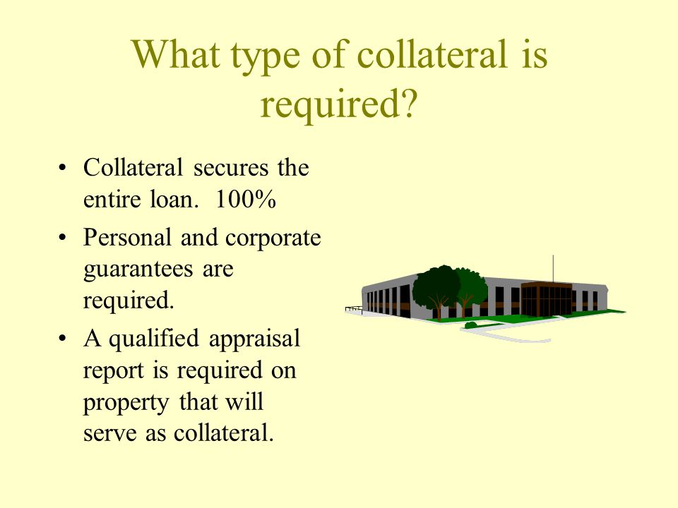 What type of collateral is required