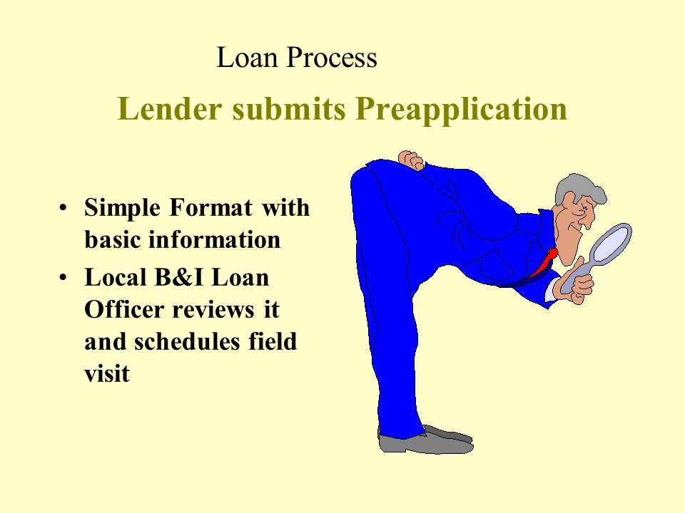 Lender submits Preapplication