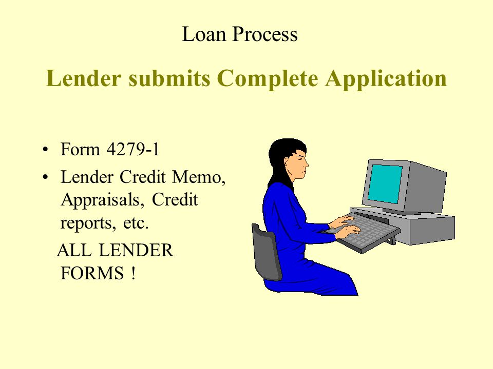 Lender submits Complete Application