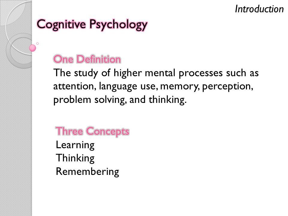 Cognition An Exercise For And About The Brain Psychology Ppt Download
