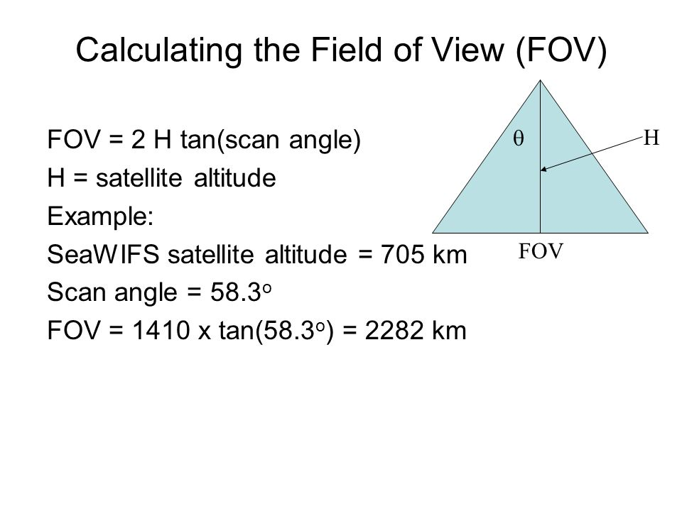 Calculating the Field of View (FOV)