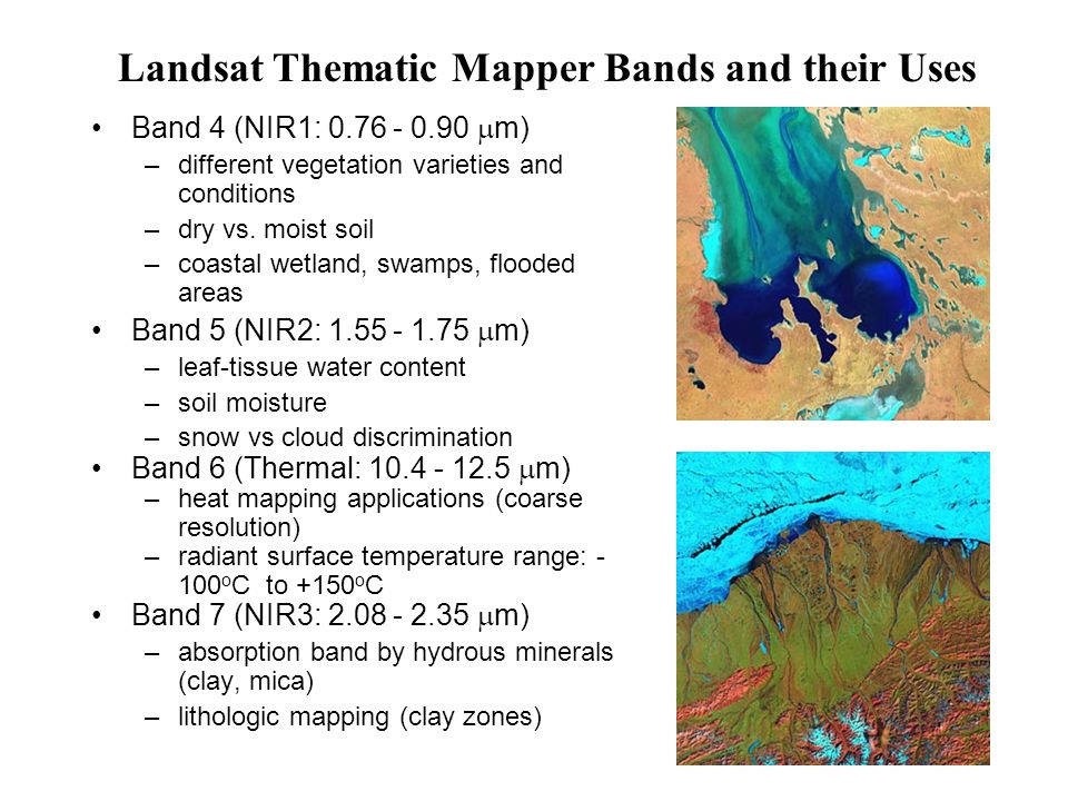 Landsat Thematic Mapper Bands and their Uses