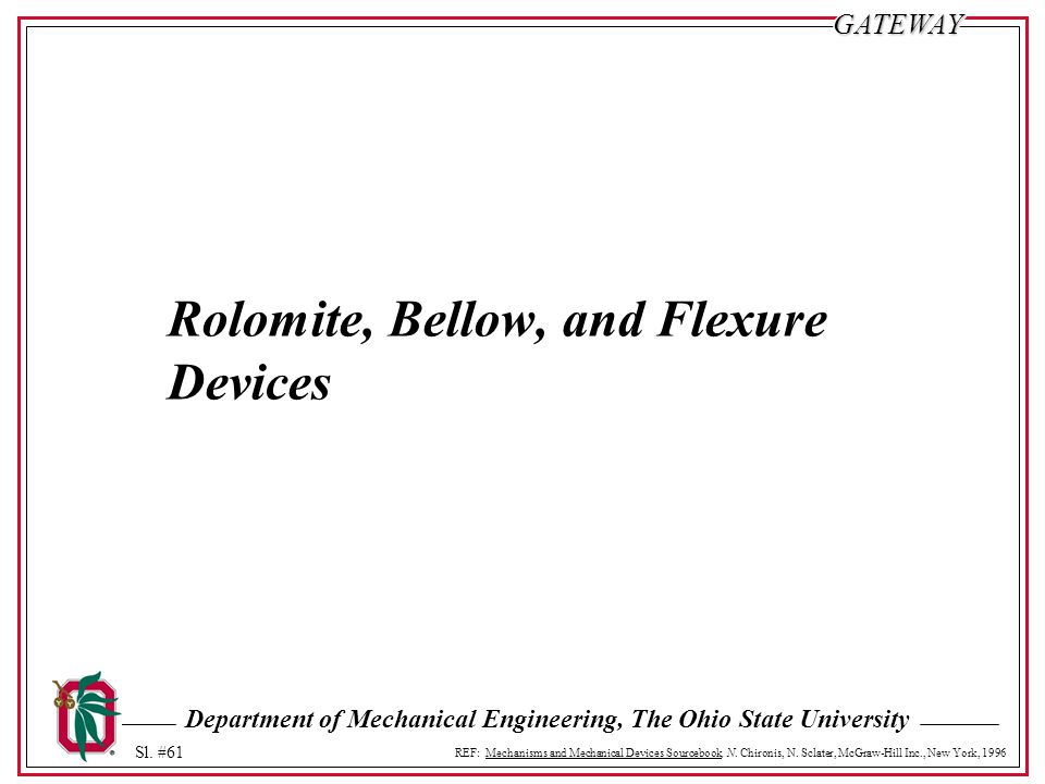 Rolomite, Bellow, and Flexure Devices