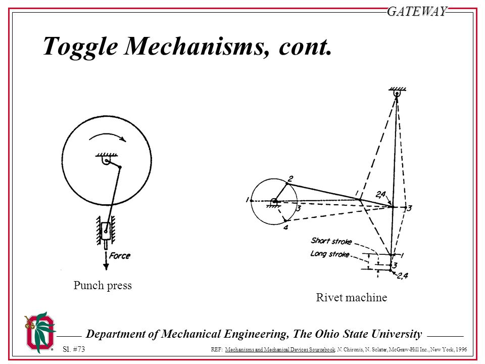 Toggle Mechanisms, cont.