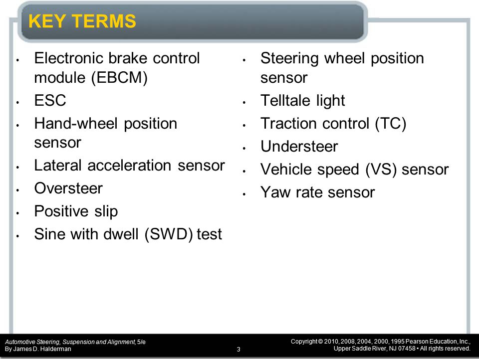 CHAPTER 10 Electronic Stability Control Systems - ppt video