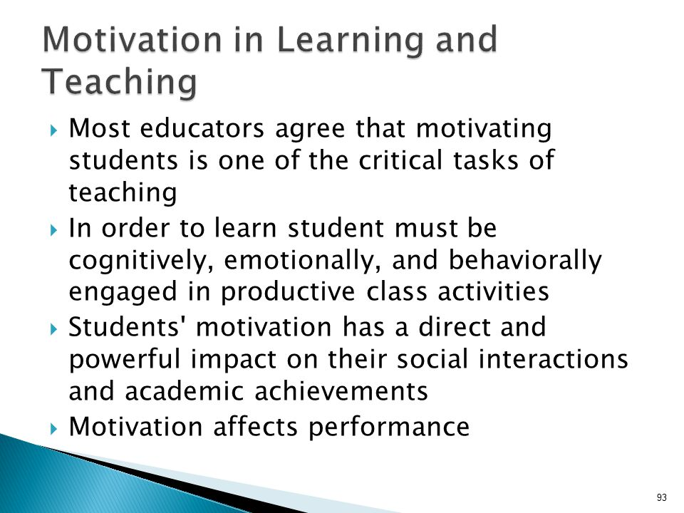 motivation affects learning