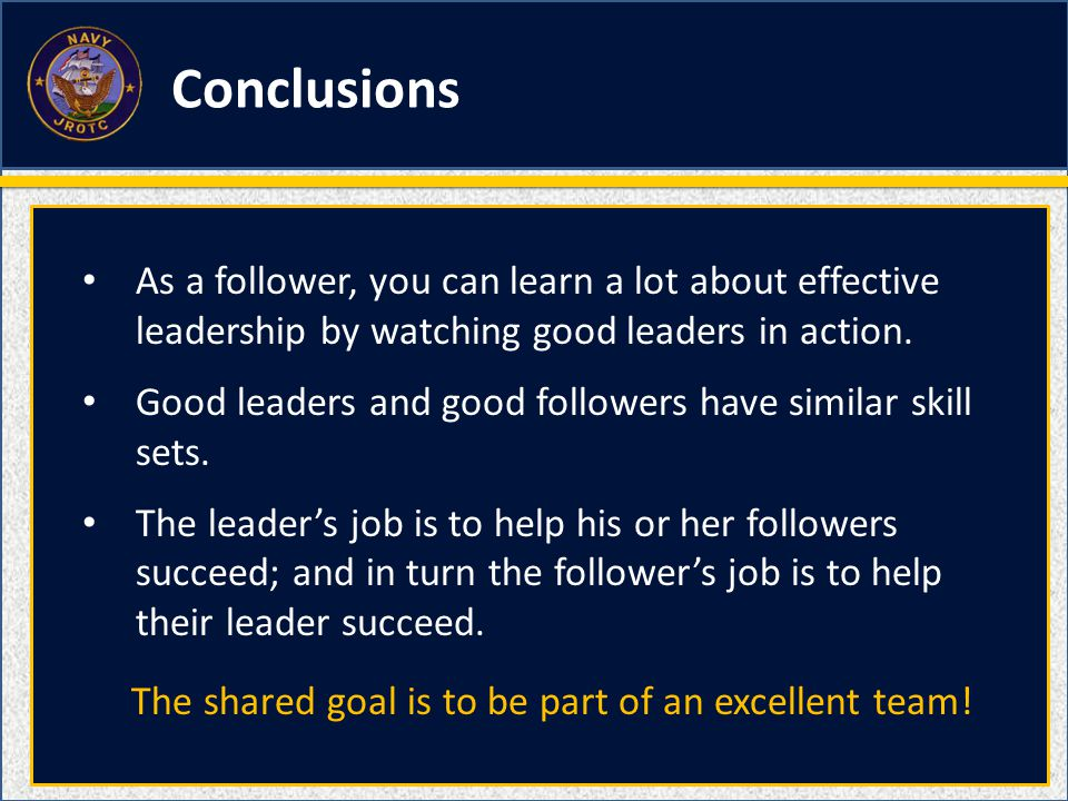 conclusion of effective leadership