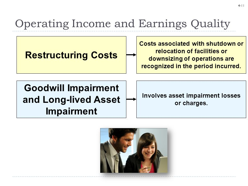 Operating Income and Earnings Quality