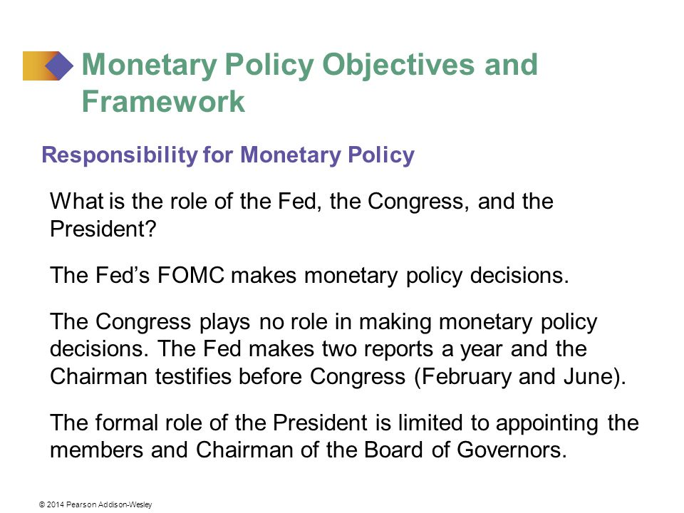 Monetary Policy Objectives and Framework