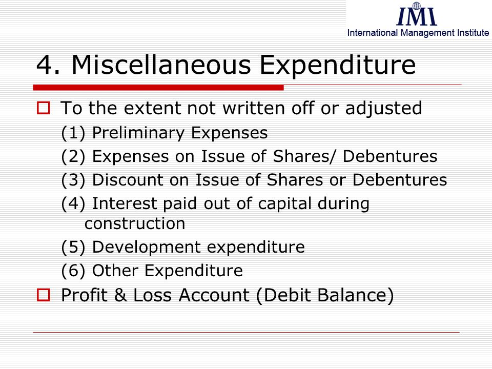 what is the meaning of preliminary expenses