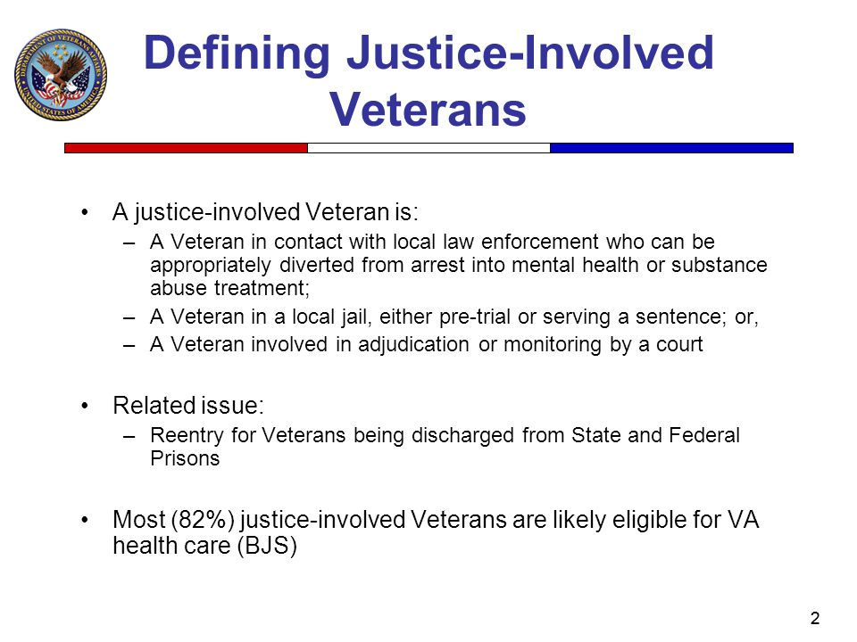Defining Justice-Involved Veterans
