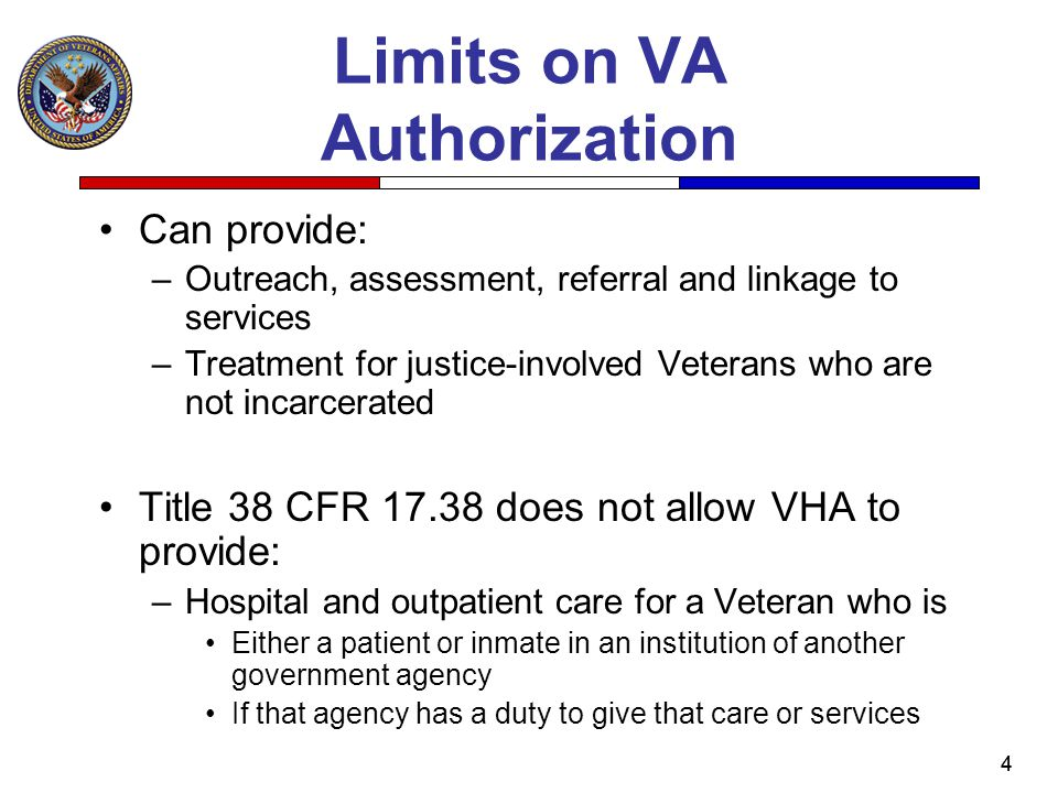 Limits on VA Authorization