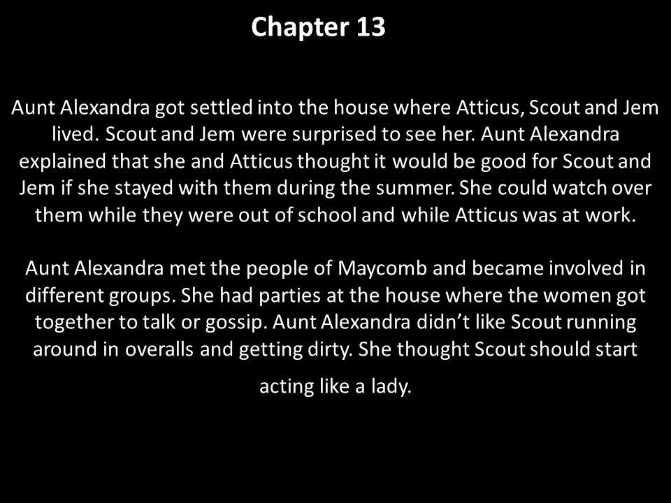 chapter 13 summary to kill a mockingbird