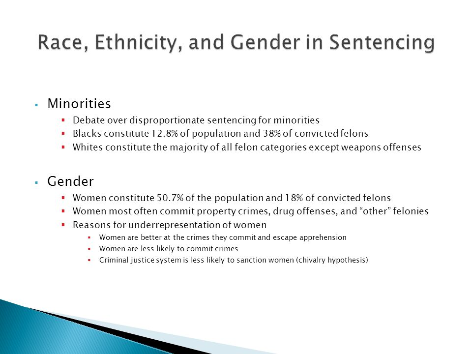 Race, Ethnicity, and Gender in Sentencing