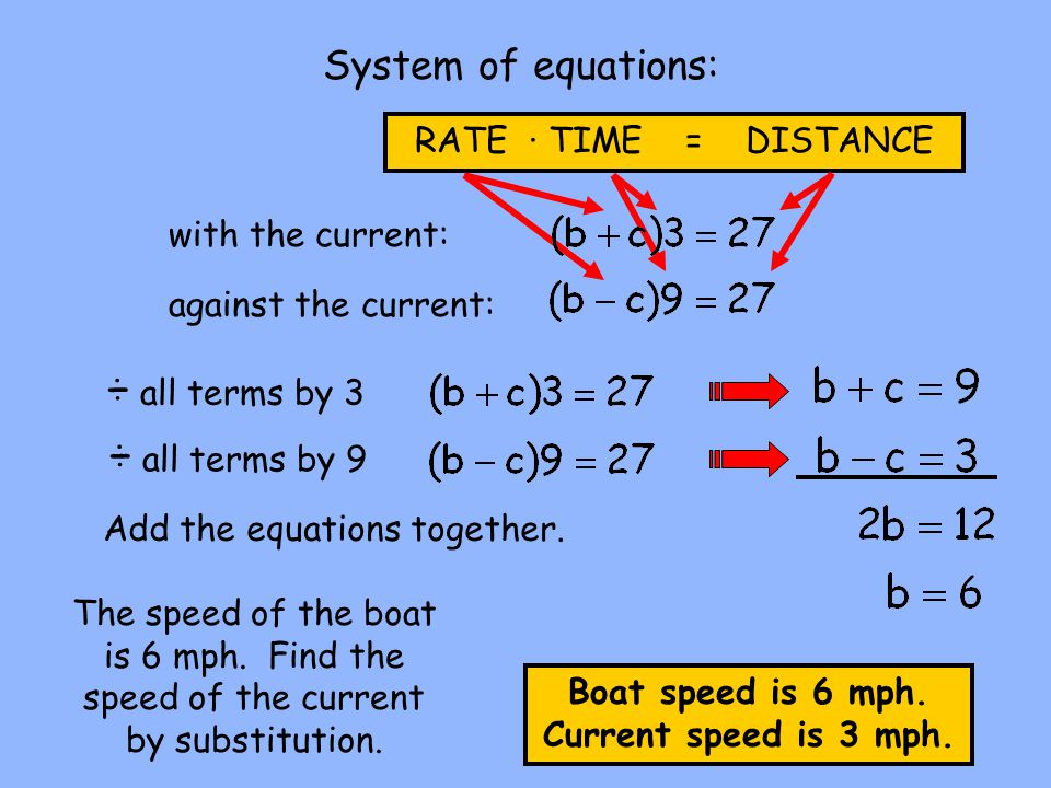 Wind and current word problems ppt download all terms by 3 all terms by 9 system of equations ibookread PDF