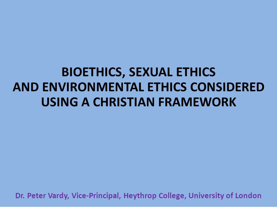Christian sexual ethics