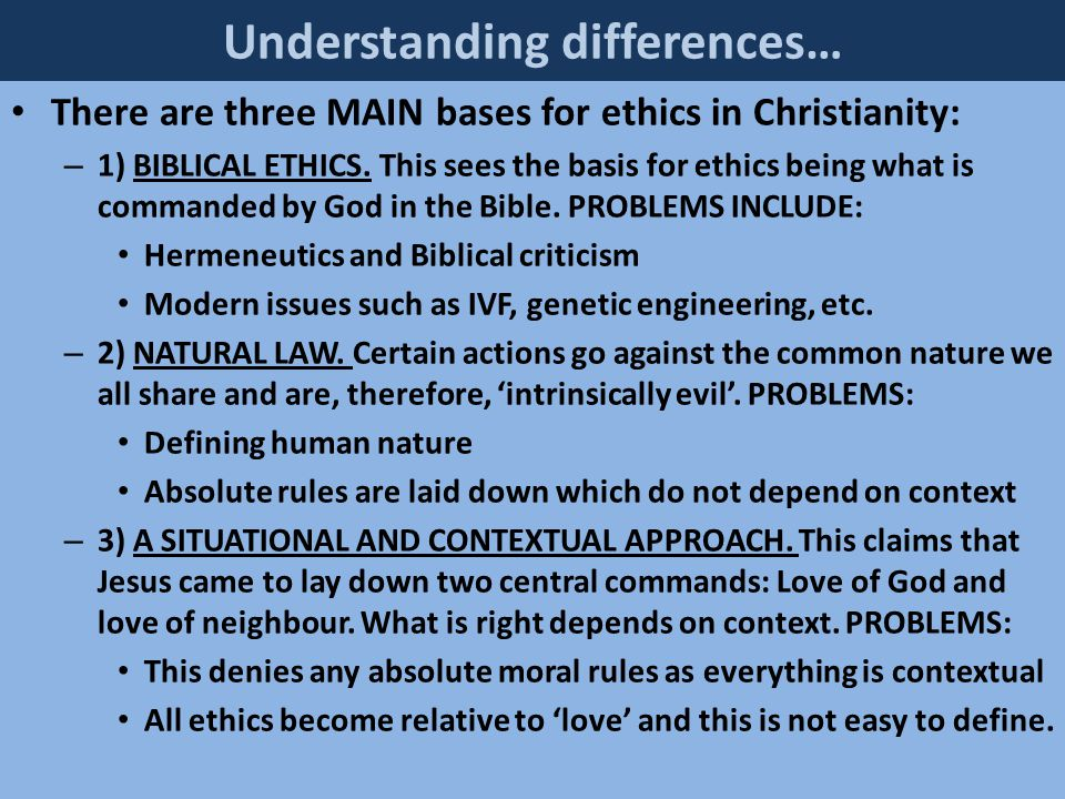 BIOETHICS, SEXUAL ETHICS AND ENVIRONMENTAL ETHICS CONSIDERED USING A