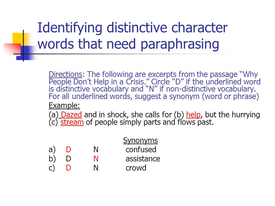 Linguistic Challenges of Summary and Paraphrase - ppt video