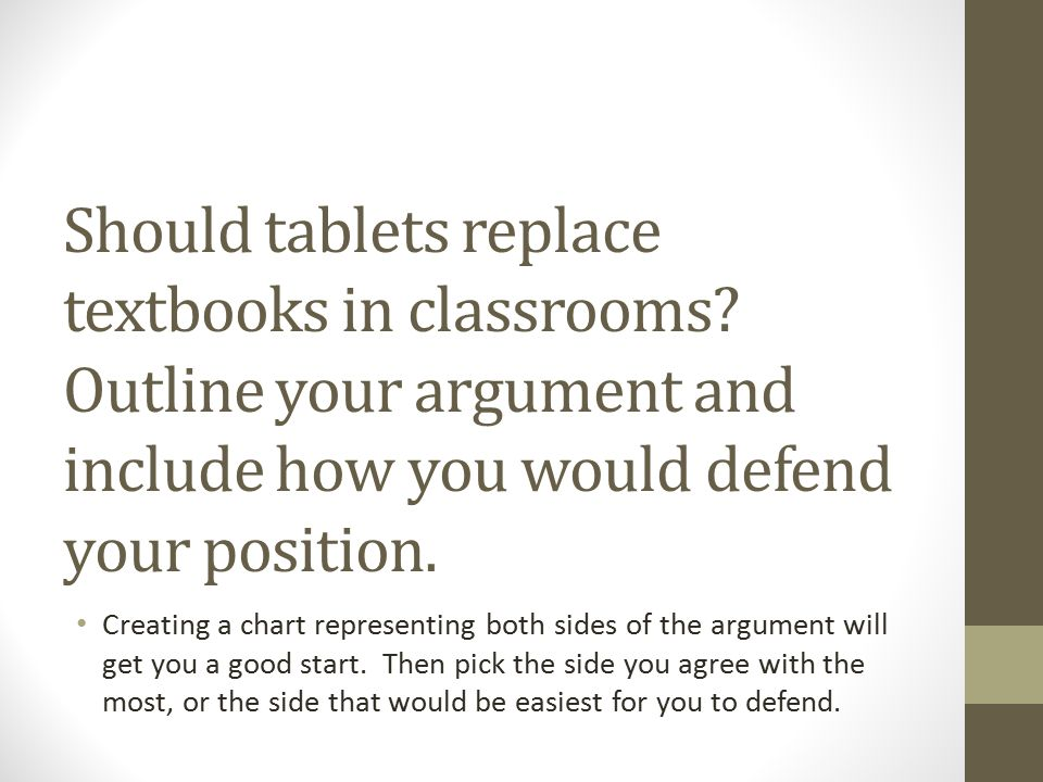 should tablets replace textbooks in the classroom